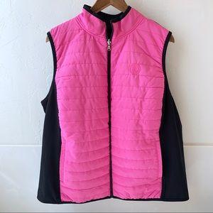 Ralph Lauren reversible vest pink black 2x